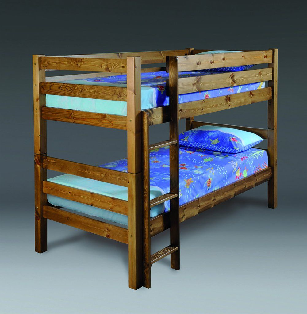 Solid Pine Heavy Duty Bunk Bed interior, Wooden bed, Bed