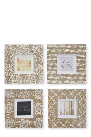 Buy Set Of 4 Etched Pattern Frames from the Next UK online shop ...
