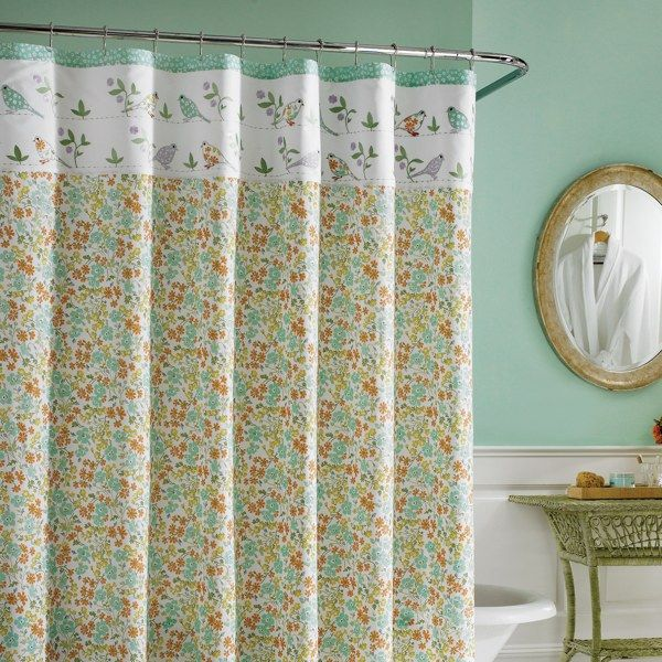 Laura Ashley Birds And Branches Fabric Shower Curtain
