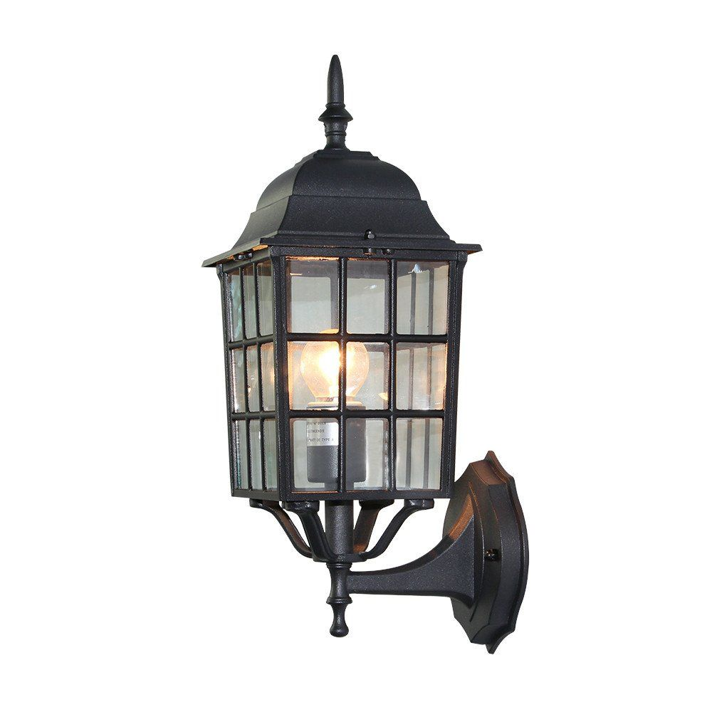 cottage outdoor lighting. LNC Industrial Edison Vintage Style Cottage Patio/Porch 1-Light Exterior Wall Lantern With Glass Aluminum Outdoor Light Fixture,Black Finish Lighting H