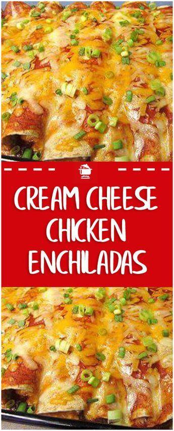 CREAM CHEESE CHICKEN ENCHILADAS#chicken #chickenrecipe #todieforchickenenchiladas