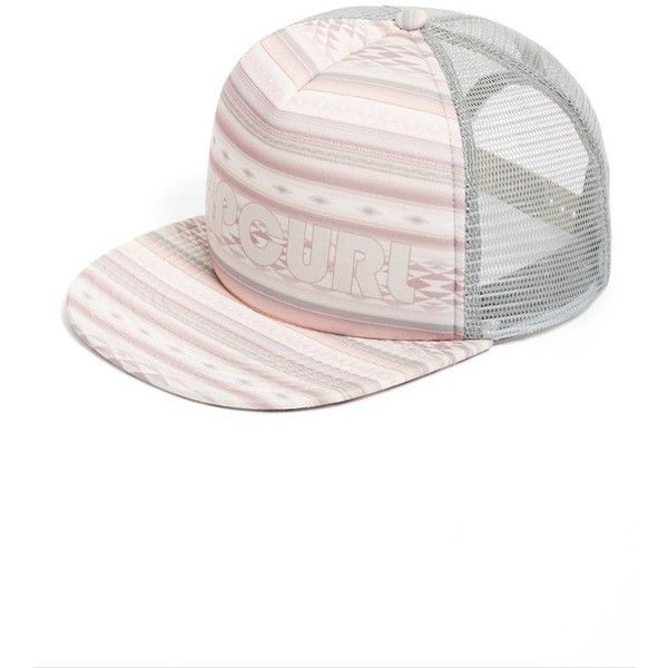 Women S Rip Curl Surf Bandit Logo Trucker Hat 24 Liked On Polyvore Featuring Accessories Hats Dusty Rose Mesh B Rip Curl Surf Bandit Logo Trucker Hat