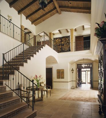 Entry  Spanish Colonial with Moroccan details designed by Thomas Callaway   by Thomas Callaway Associates, Inc