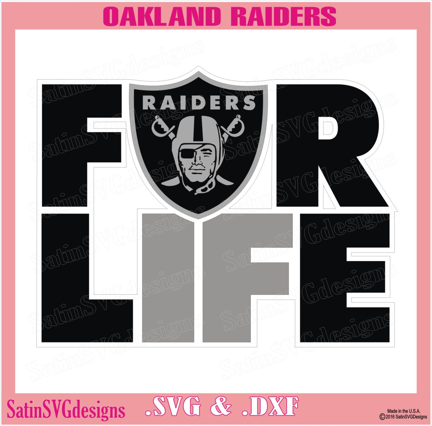 Oakland Raiders For Life Design With Your Silhouette Studio Software Svg Files Dxf Explore Png Files Svg Fonts Cameo Cricut Cricut Svg Raiders