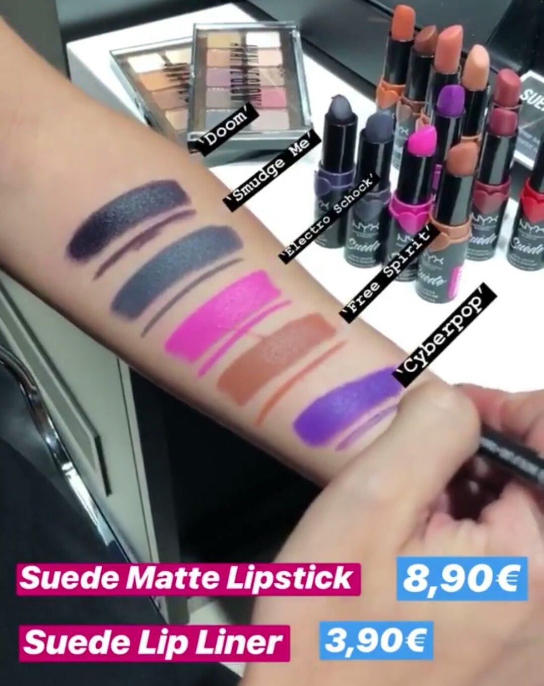 Nyx Suede Matte Lipsticks Swatches Nyx Lips In 2019 Lipstick