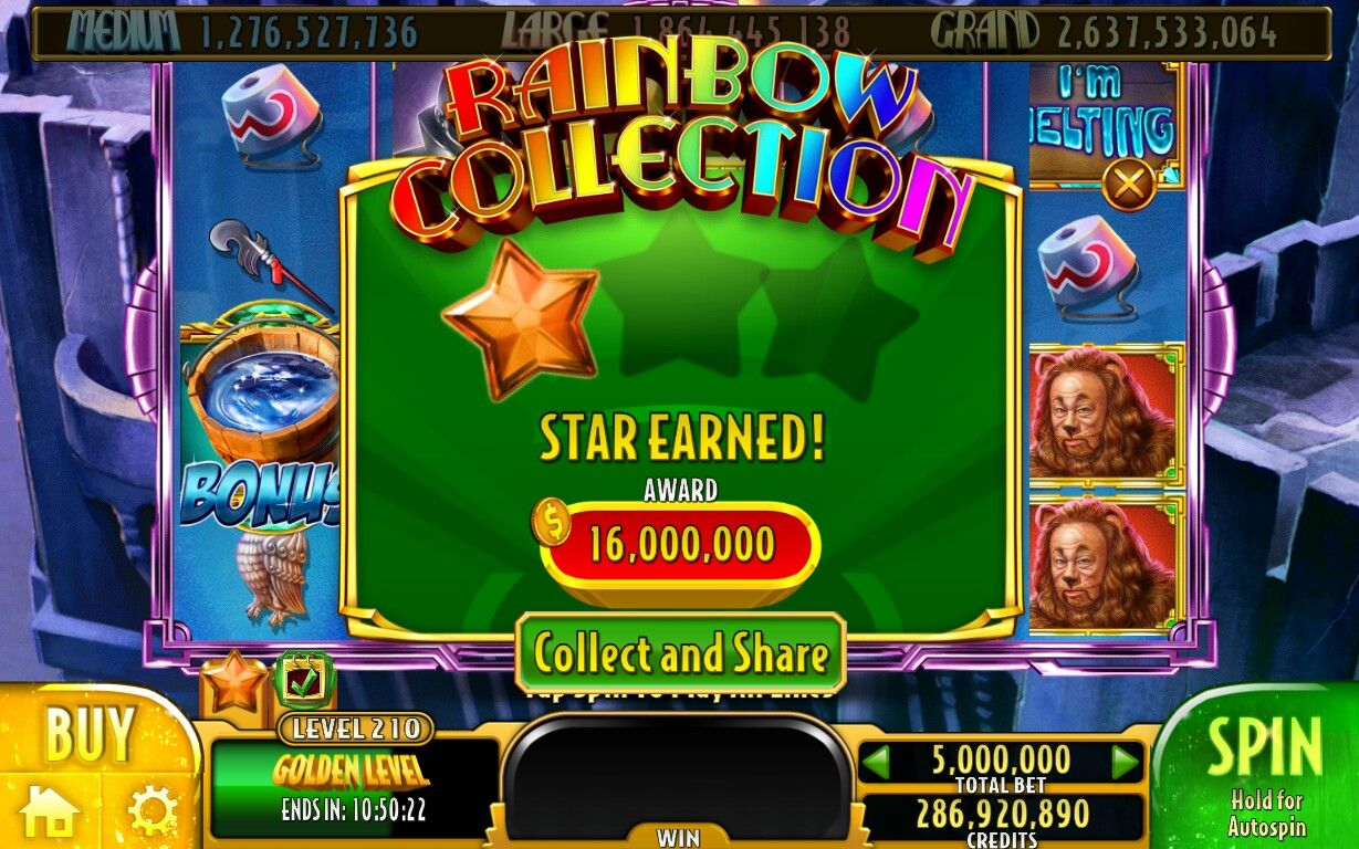 slots wizard of oz free coins
