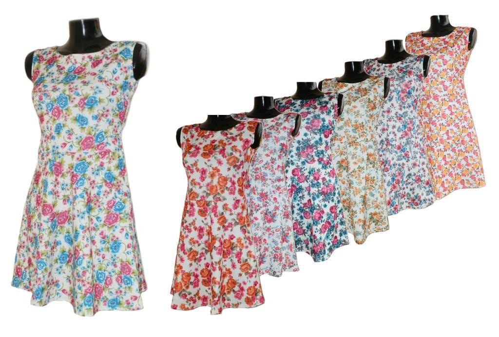 Rozkloszowana Sukienka W Kwiaty Xxl 4296107728 Oficjalne Archiwum Allegro Summer Dresses Fashion Dresses