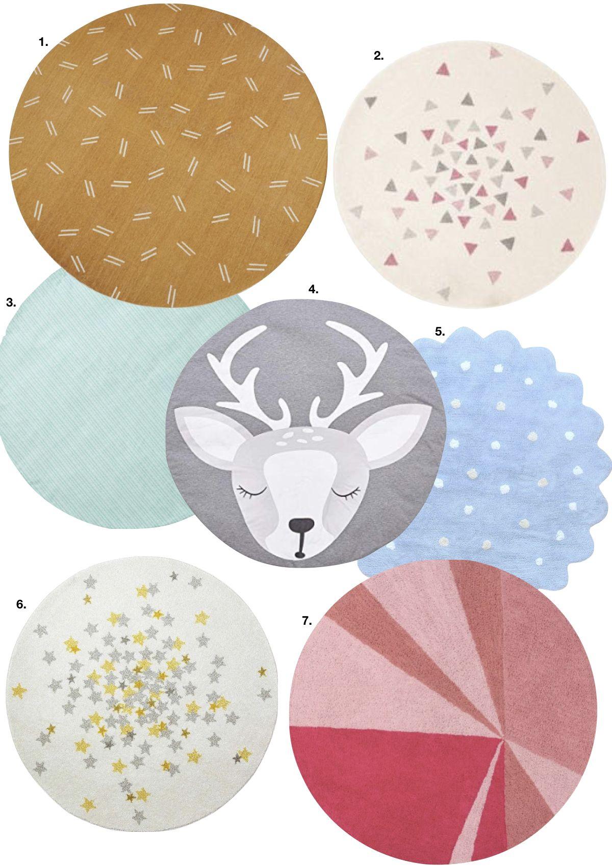 tapis rond pas cher et design blog