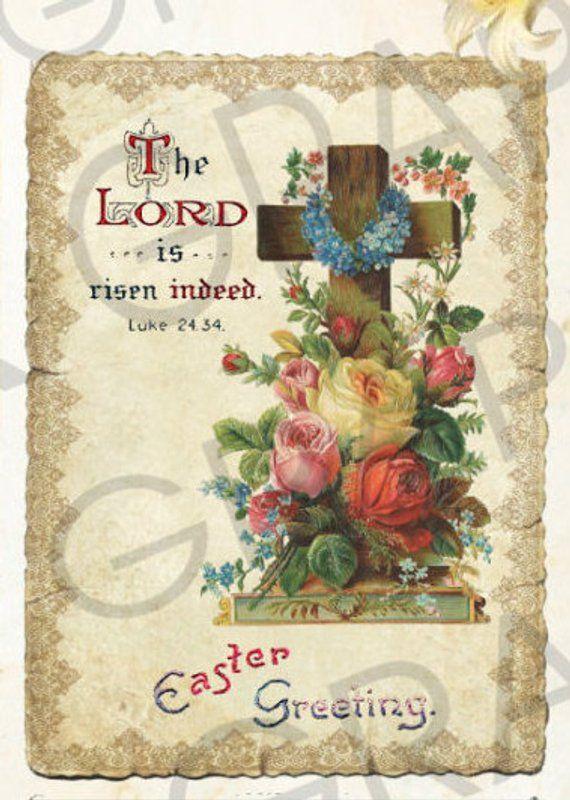 Vintage Victorian Easter Christian Atc Cards Vintage Easter Labels