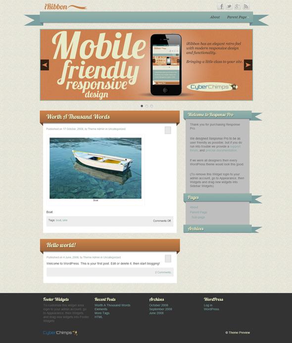 Iribbon Wordpress Theme By Cyber Chimps 10 Spectacular Free Wordpress Themes Wordpress Free Wordpress Themes Photography Website Templates Wordpress Theme