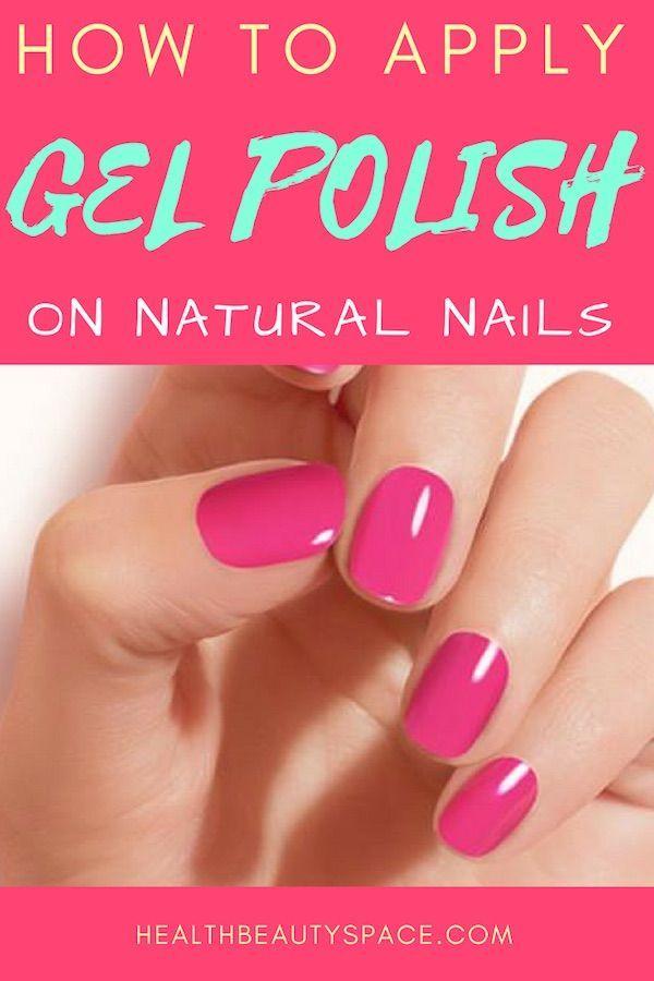 How To Apply Gel Polish On Natural Nails Nails Design With Rhinestones Classy Nail Art Ideas Natural Gel Nails
