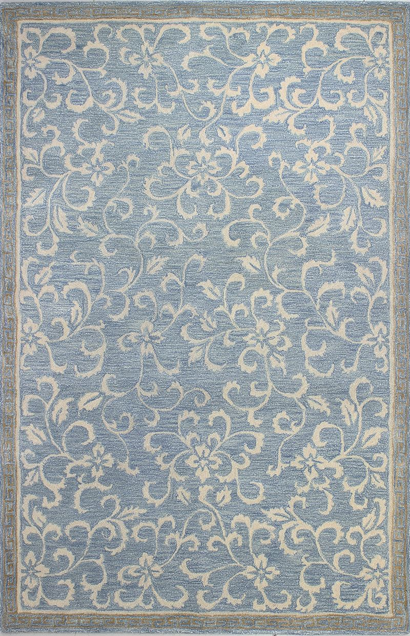 Bashian Rug Collections Greenwich Light Blue Area Rug Hand Tufted Rugs Area Rugs