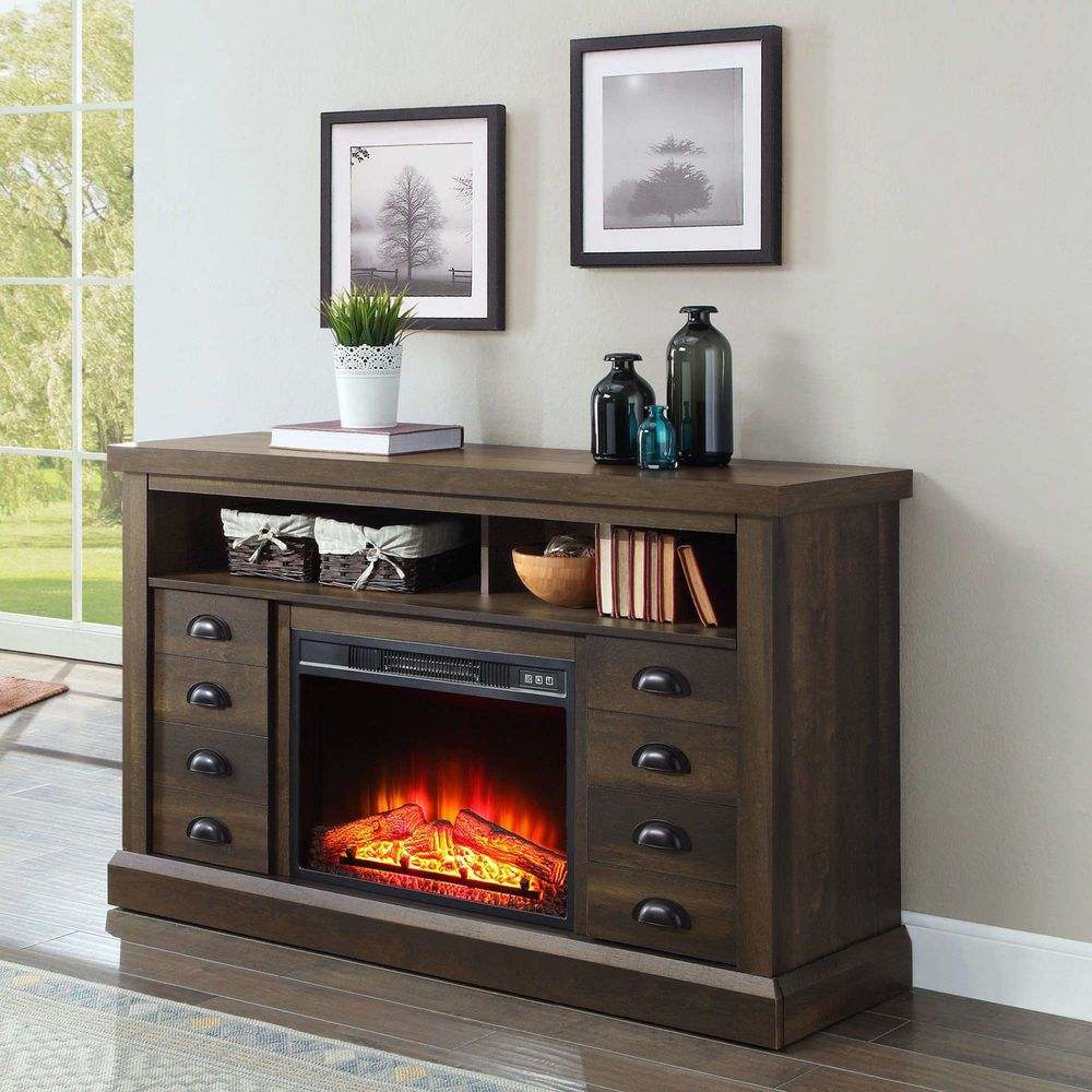 60 Inch Tv Stand With Electric Fireplace Media Console