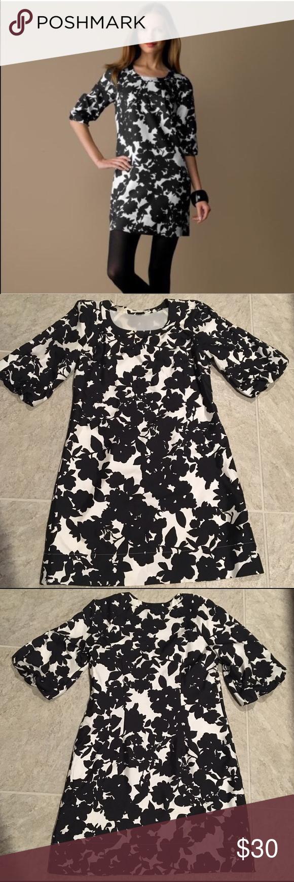 Banana Republic Silk Dress Black floral shift dress. Size small. Excellent condition. Never worn. Banana Republic Dresses