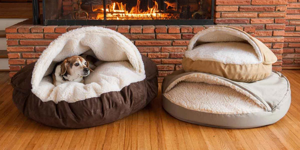 The Snoozer Cozy Cave nesting dog bed is one of a kind dog