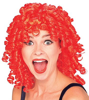 Curly Top Red Clown Wig Costume Wigs Clown Wig Wigs