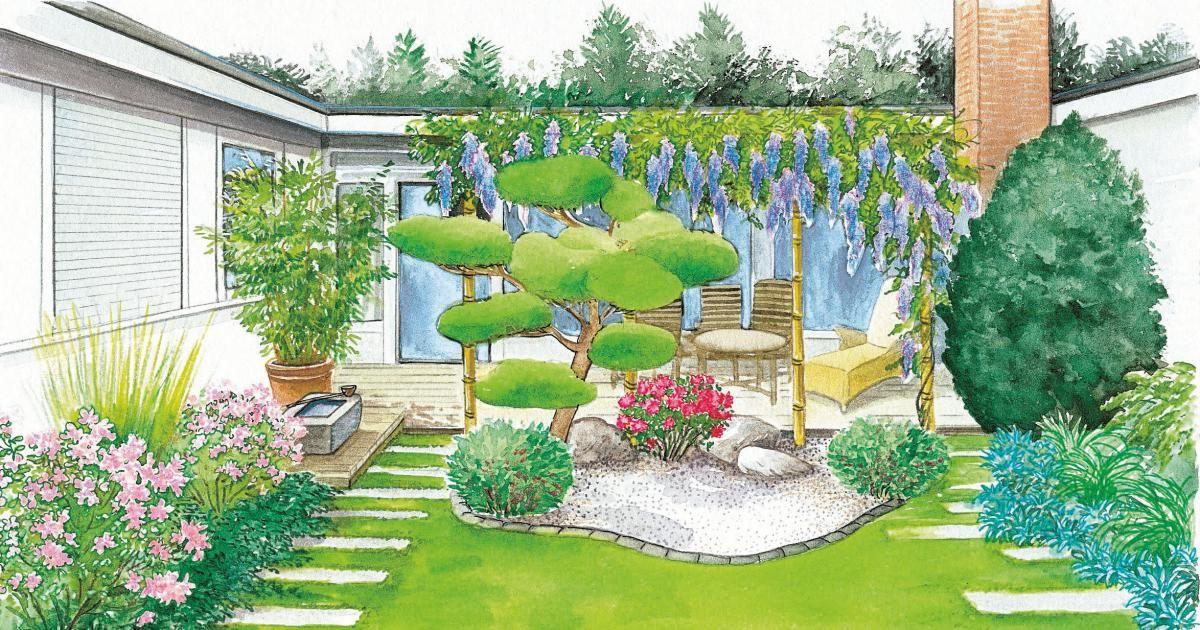 Garten und Terrasse in Harmonie Ландшафт Pinterest - reihenhausgarten vorher nachher