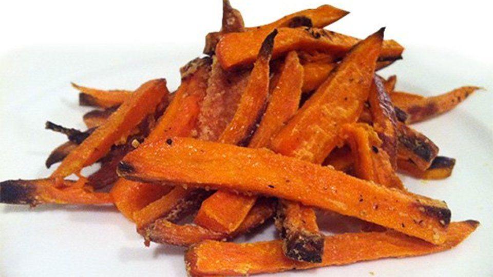Baked Yam Fries Bodybuilding Com Recipe Healthy Superbowl Snacks Yams Recipe Healthy Healthy Superbowl