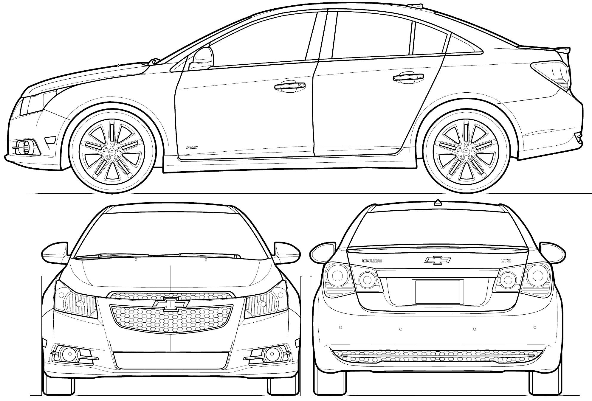 Blueprints Chevrolet Cruze
