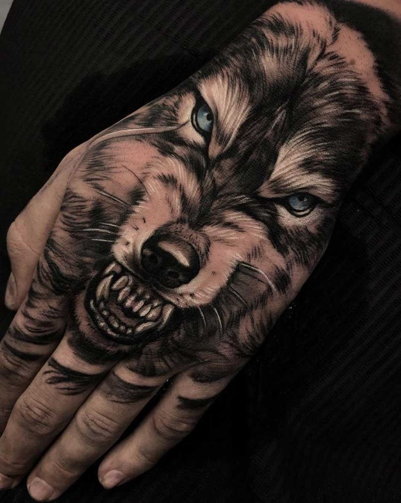 175 Best Hand Tattoo Ideas With Meanings Wild Tattoo Art In 2020 Hand Tattoos For Guys Wolf Tattoos Wolf Tattoo Design
