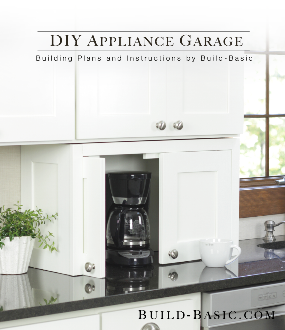 Hide Clutter With This Diy Appliance Garage Easy Building Plans