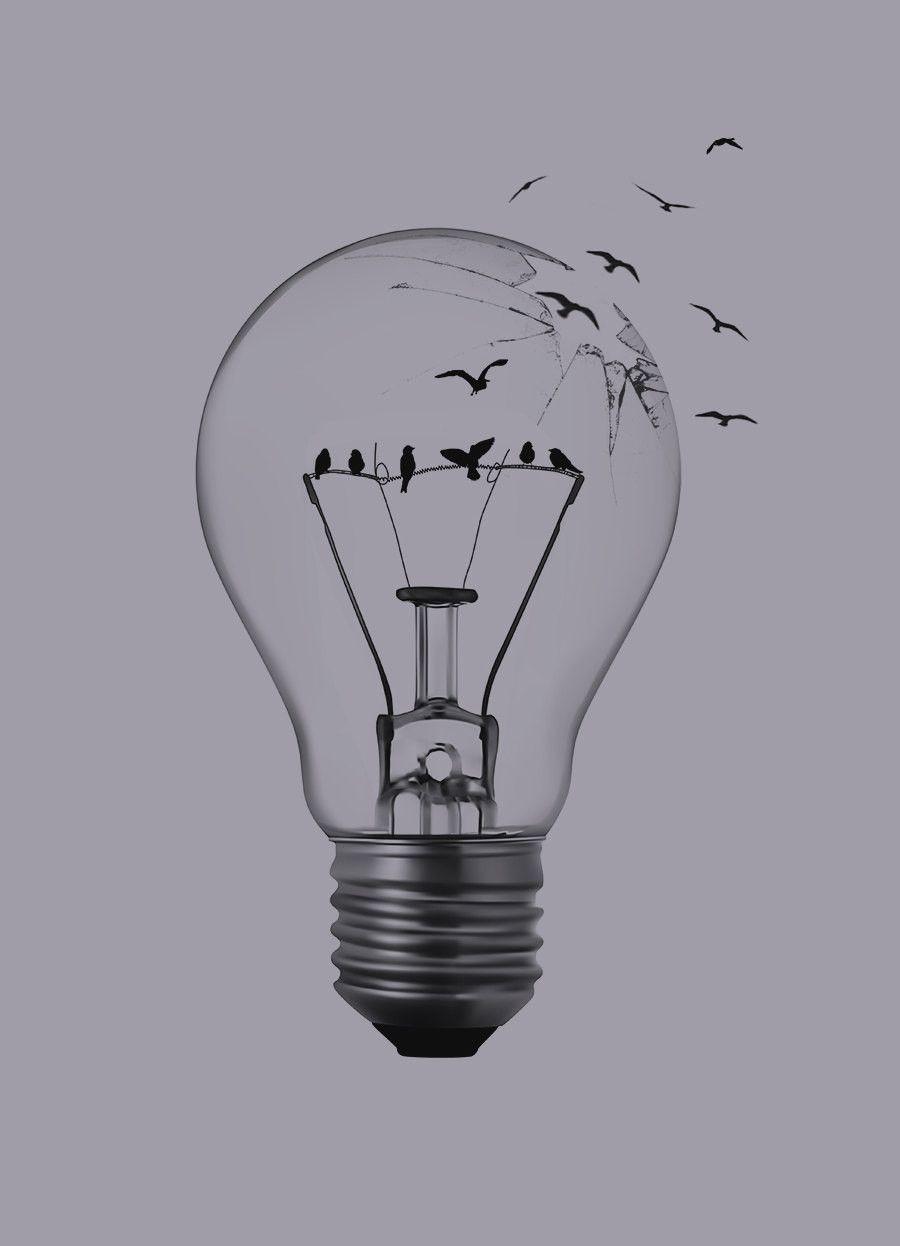 Image result for birds in a light bulb | ART in 2018 | Pinterest ...