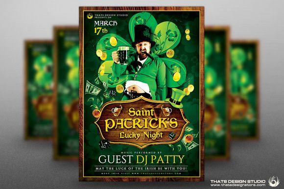 Saint Patricks Day Flyer Template V1 by Thats Design Studio on Creative Market