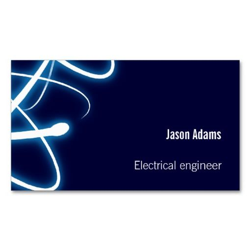 Electrical Engineer Business Card With Images Business Cards
