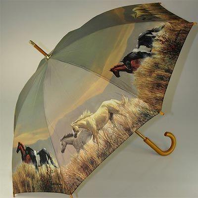 Beautiful wild horses umbrella.