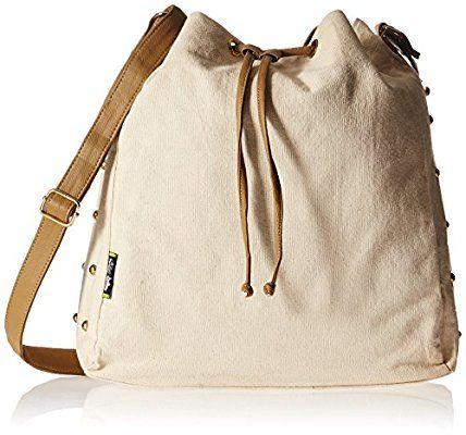 Kanvas Katha Women's Sling Bag (Ecru) (KKSDPOT005E)