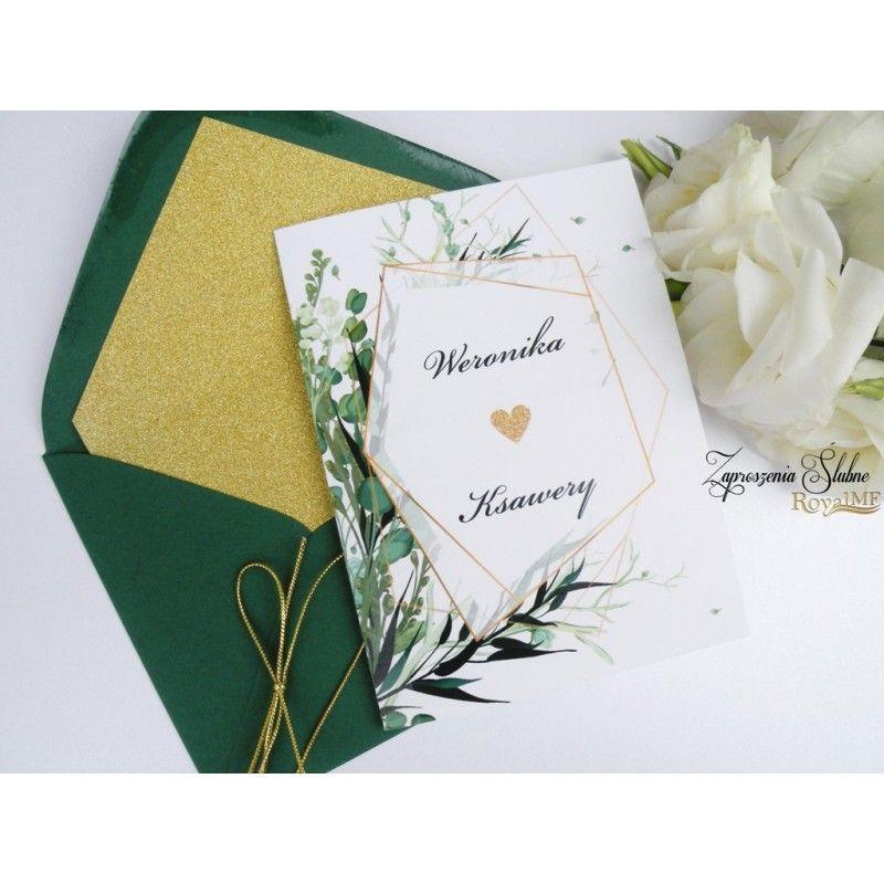 Zaproszenie Slubne Geometryczne Wedding Cards Wedding Invitations Diy Wedding Invitations