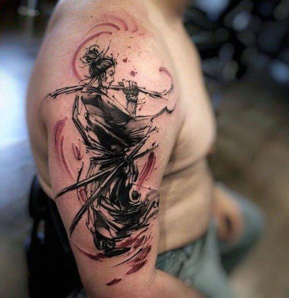 2b15ebc413d16 30 Ninja Tattoos For Men - Ancient Japanese Warrior Design Ideas ...