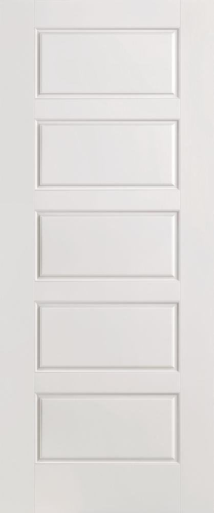 32 Inch X 80 Inch Primed Smooth 5 Panel Equal Interior Door Slab Door Design Interior Masonite Interior Doors Contemporary Interior Doors