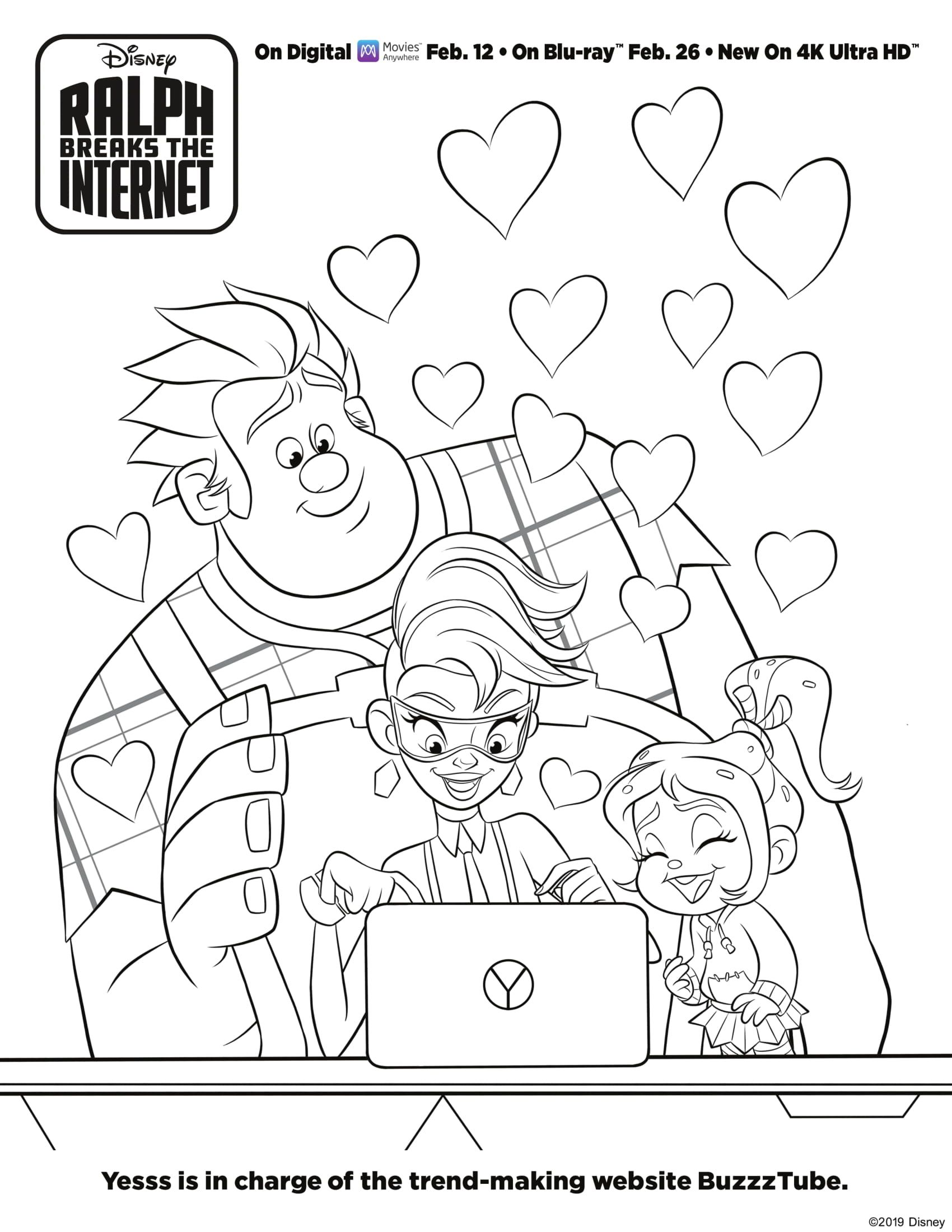 Ralph Breaks The Internet Coloring Sheet Cartoon Coloring Pages Disney Coloring Pages Princess Coloring Pages