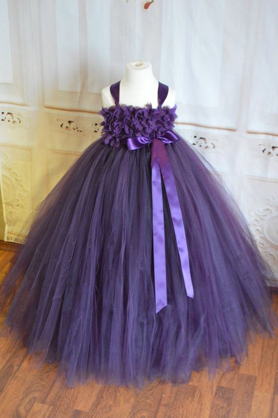 Customizable! Sugar Plum chiffon hydrangea Flower girl dress ...