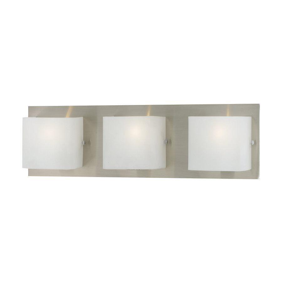 Eurofase Talo Light In Satin Nickel Square Vanity Light - Square bathroom vanity lights