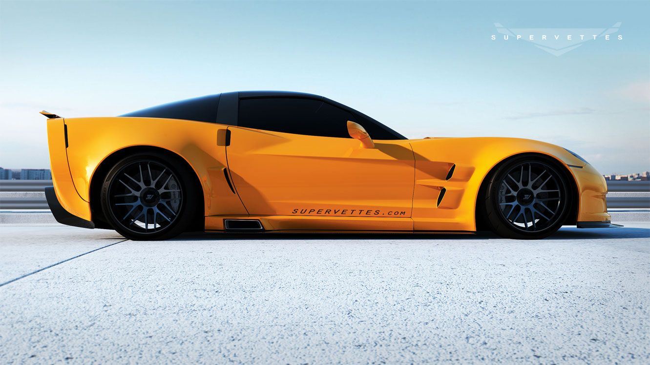 New Gt6x Extreme Widebody Conversion From Supervettes Llc Sneak