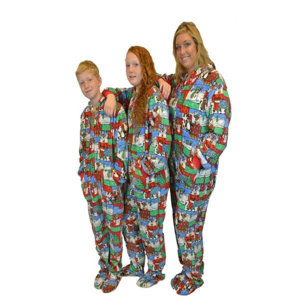 b07bc6b1ac7e Big Feet Pajama Co Adult color Winter Fun Plush Hoodie Footed One ...