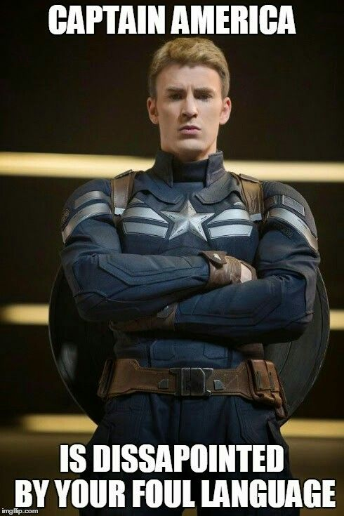 Image result for captain america language