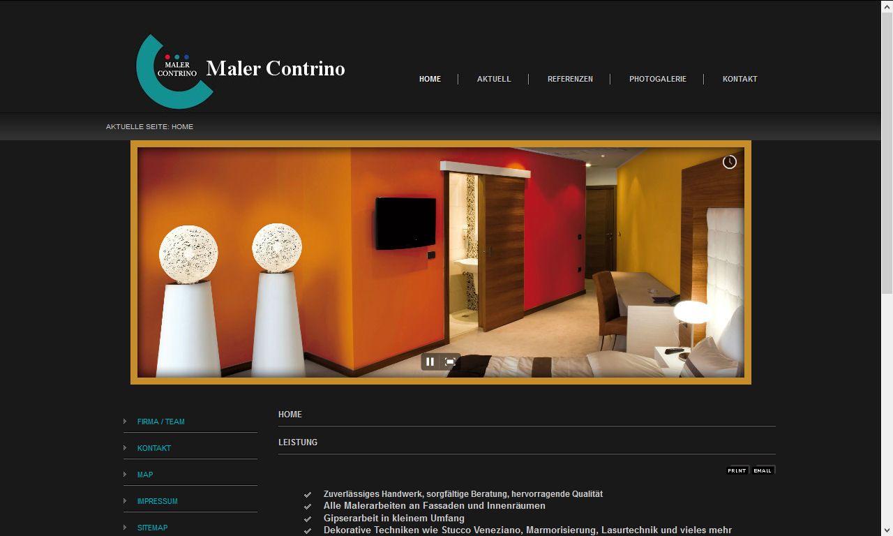 Professionelles Webdesign für alle die gute Malerarbeiten schätzen http://www.maler-contrino.ch/