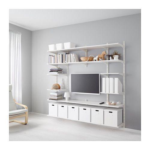 Algot Wall Upright Shelves White 82 5 8x16 1 8x77 1 2 Ikea