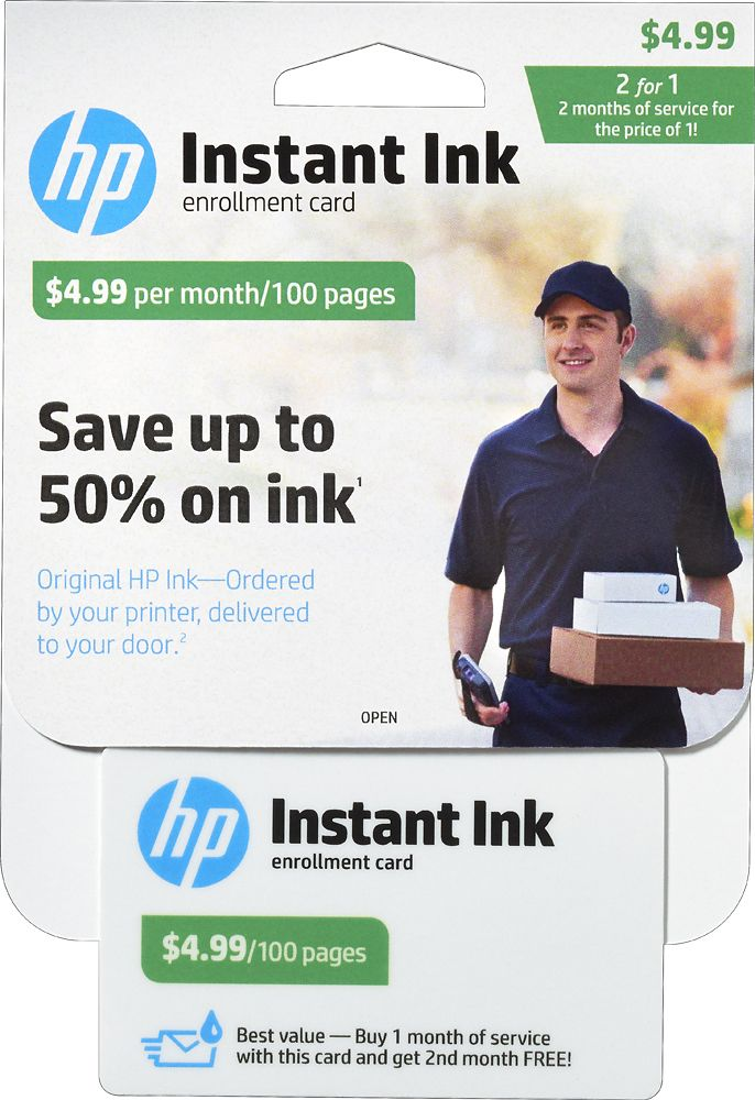 HP - Instant Ink 100-Page Monthly Plan for Select HP