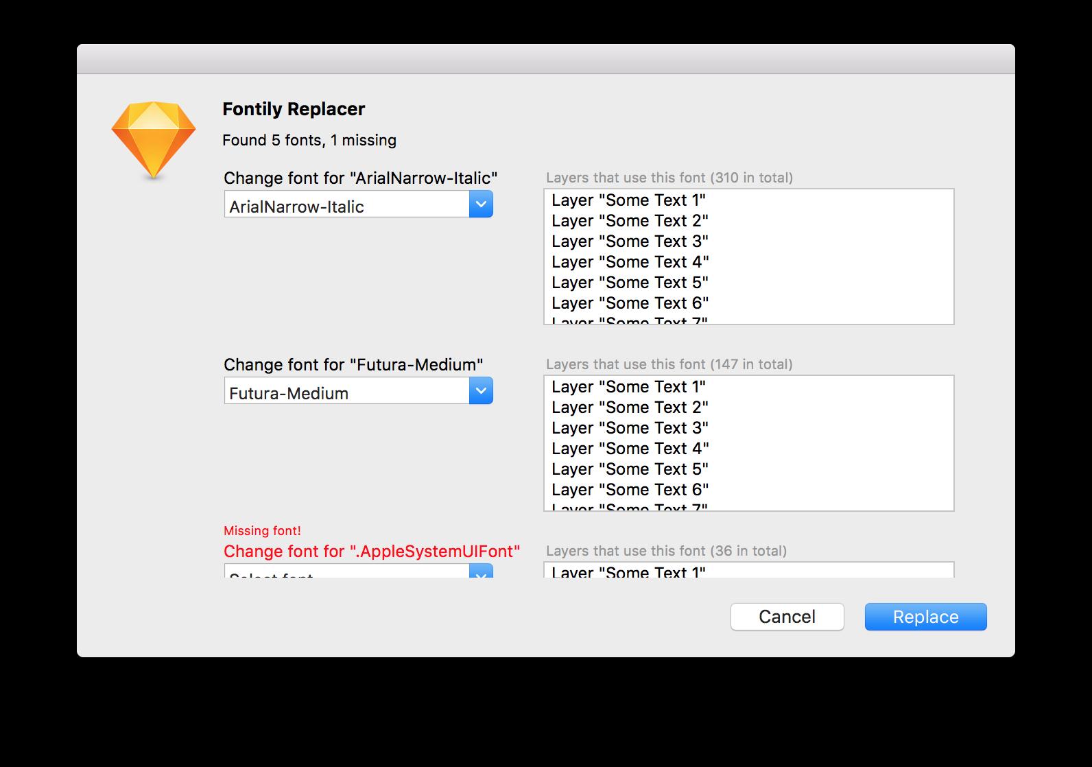 Fontily : missing sketch plugin   Tools   Web design tools
