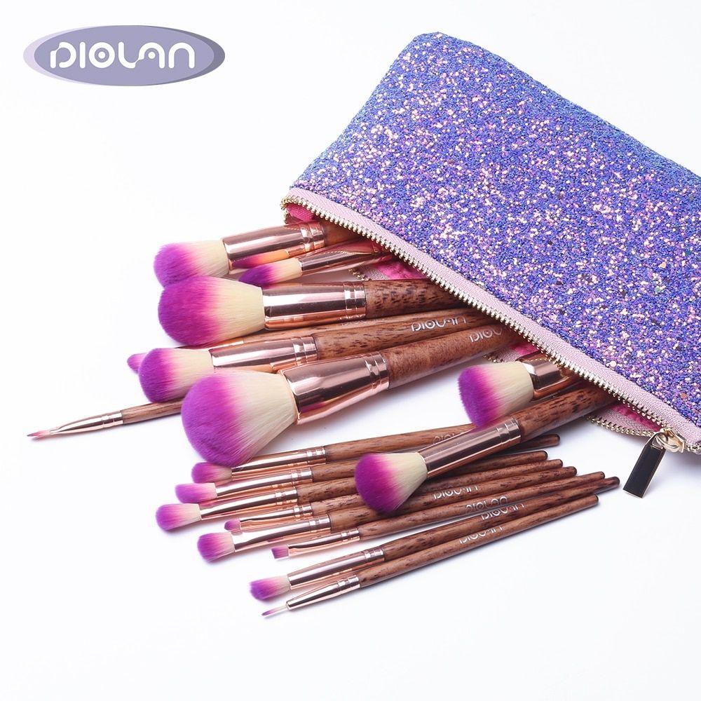 DIOLAN 17pcs Full Professional Cosmetic Makeup Brushes