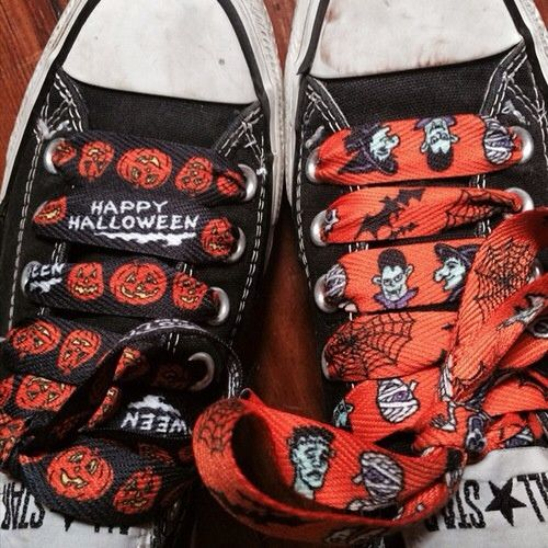 #shoelace #shoes #shoelaces #fashion #sneakers #style #halloween #pumpkin #countdracula #orange #black #happyhalloween