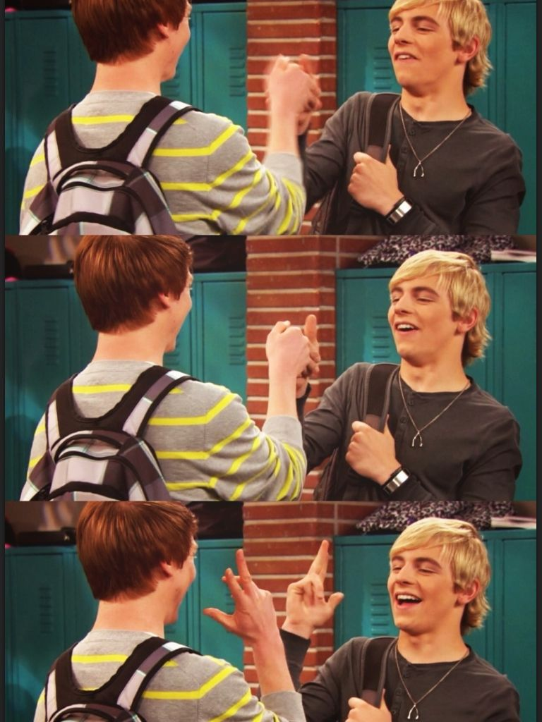 the famous austin and dez handshake! | austin & ally in 2019