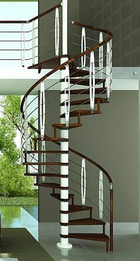 Wooden Spiral Stair With Metal Parts Spiral Staircases, Staircase Metal,  Wooden Stairs, Stair