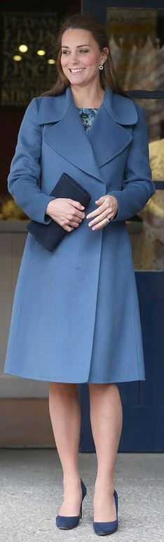 Kate Middleton: Coat – Max Mara  Dress – Seraphine Florrie  Purse – LK Bennett  shoes – Jimmy Choo