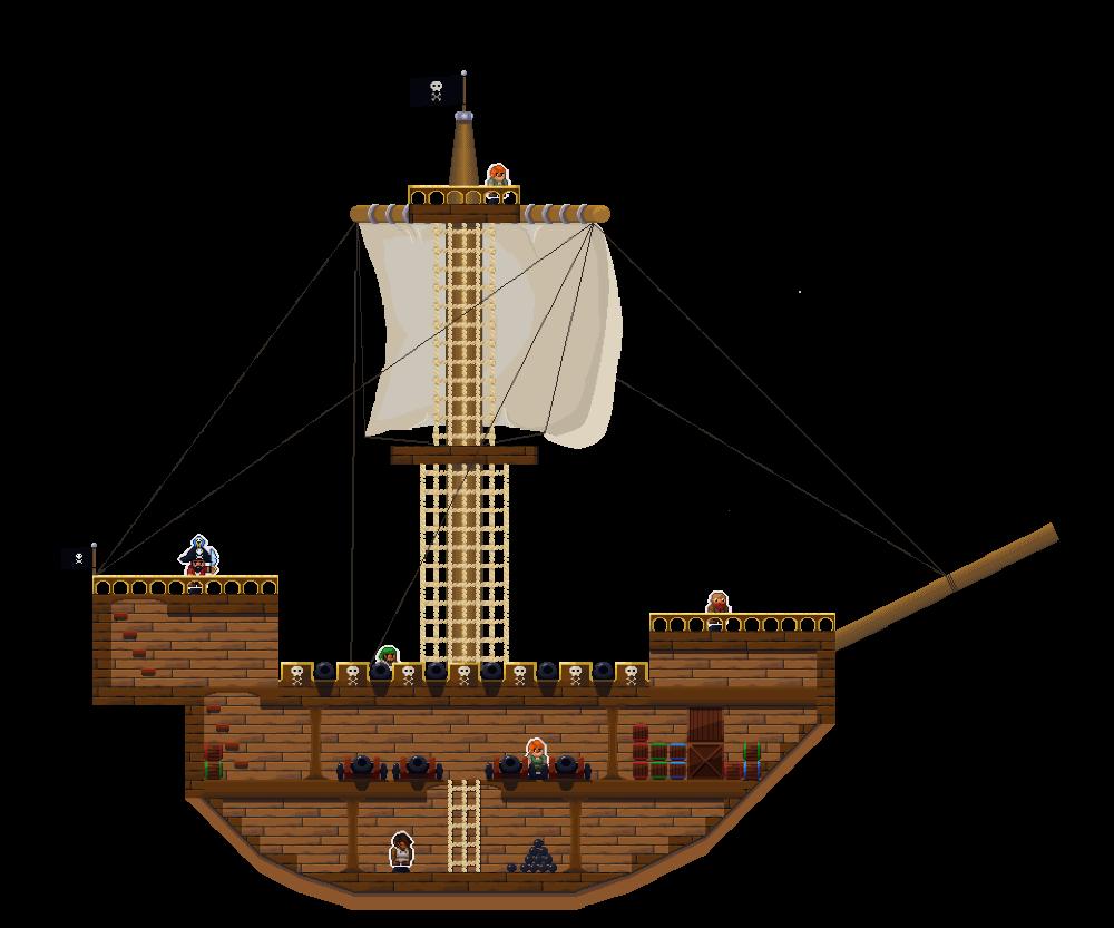 Modular Pixel Pirate Ship By Rolltonotdie On Deviantart Pirate Ship Pixel Ship