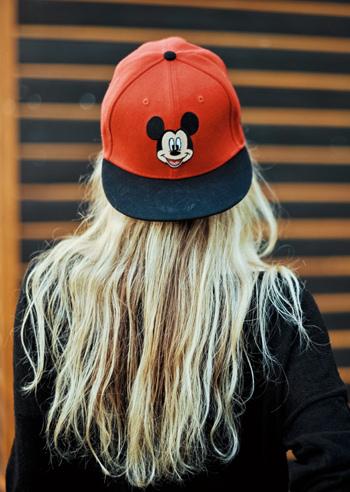 7266bc3d1f5 backward Mickey Mouse cap